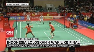 Indonesia Loloskan 4 Wakil ke Final Indonesia Master 2020