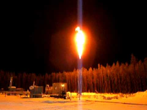 Igniting A 40 Flare Stack With A Flare Pen Youtube