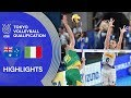 AUSTRALIA Vs. ITALY - Highlights Men   Volleyball Olympic Qualification 2019
