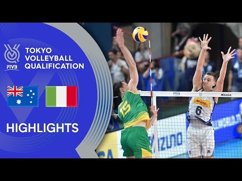 AUSTRALIA Vs. ITALY - Highlights Men | Volleyball Olympic Qualification 2019
