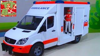 BRUDER TOYS Машинка Скорая Помощь распаковка и обзор от Игорька Видео для детей
