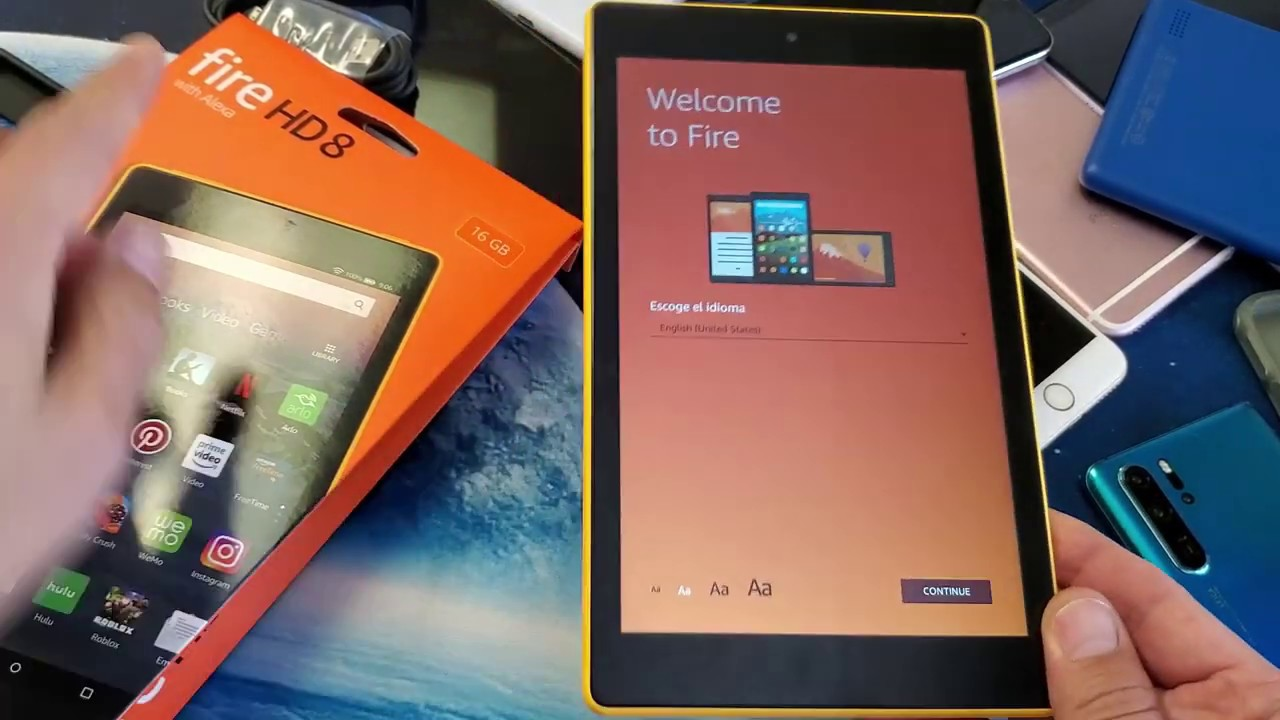 Amazon Fire Hd 8 Tablet Initial Setup Out Of Box Step By Step