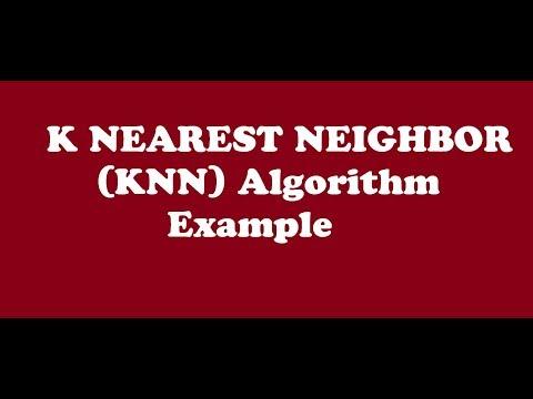 Knn (k Nearest Neighbor) Algorithm In Data Mining