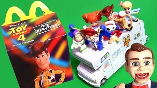 TOY STORY 4 McDONALDS HAPPY MEAL Complete Set TOYS VIDEO REVIEW DISNEY PIXAR