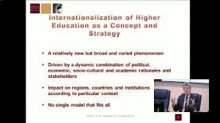 Ханс де Вит «Концепты, подходы, тренды и вызовы интернационализации высшего образования в мире»