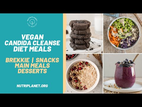 Vegan Candida Cleanse Diet Recipes and Meals: Breakfast, Lunch, Dinner, Snacks, and Desserts.