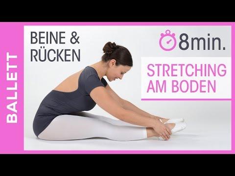 BALLETT DEHNÜBUNGEN AM BODEN - Stretching für Beine & Rücken ( Anfänger )  - Tanz mit Anna
