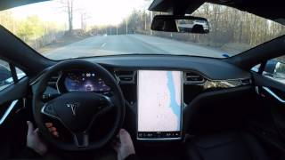 Tesla Model S HW2 FW 17.9.3 Autosteer test run with new camera setup on local roads