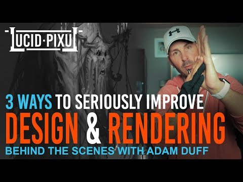 3 WAYS To Seriously IMPROVE DESIGN & RENDERING (Including FULL PAINTING DEMO!) - BTS Episode 17