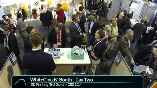WhiteClouds' Booth At CES 2014 - Timelapse