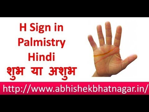 palmistry reading in hindi | H sign in palmistry | H Symbol in palmistry | H in palm reading |