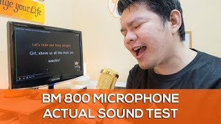 BM 800 Condenser Microphone Review and Actual Test