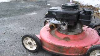 Starting an old seized lawnmower engine after 3 years