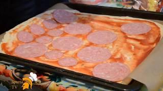 Рецепт вкусной пиццы ! Как приготовить пиццу дома !