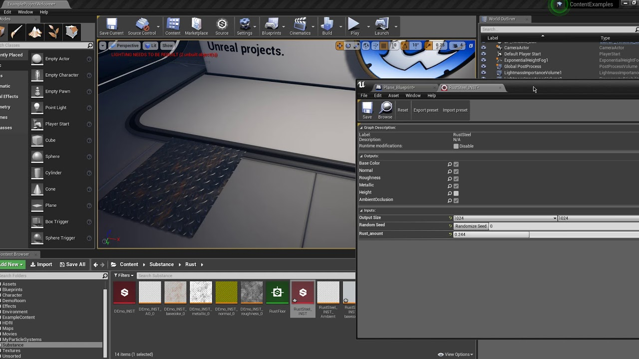 Substance designer to unreal 4 blueprint control youtube substance designer to unreal 4 blueprint control malvernweather Image collections