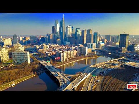 4K Screensaver Philadelphia Skyline Pennsylvania Wallpaper - Daytime
