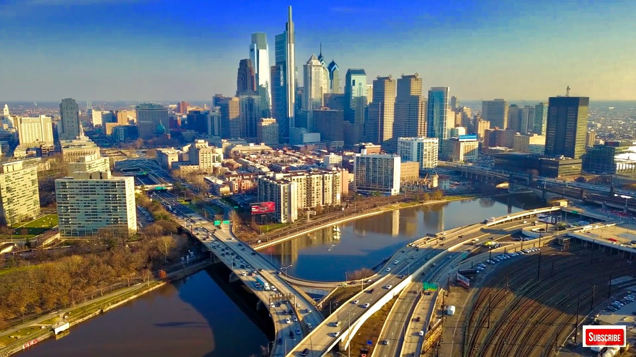 4k Screensaver Philadelphia Skyline Pennsylvania Wallpaper