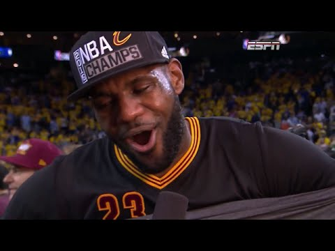 LeBron James Postgame Interview - Cleveland Cavaliers Win the 2016 NBA Championship