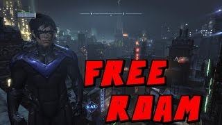Batman Arkham City Nightwing Free Roam Mod PC