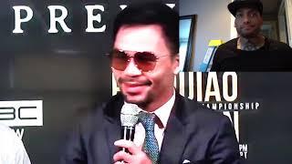 Manny Pacquiao and Keith Thurman trade THREATS at PRESS CONFERENCE thumbnail