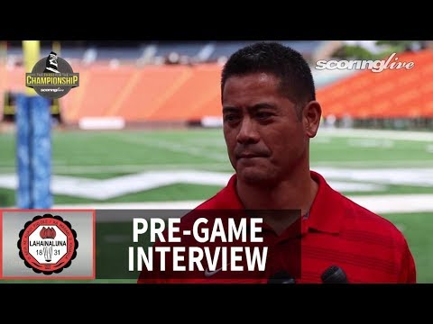 Lahainaluna Co-HC Garret Tihada - HHSAA D2 Championship Pre-Game Interview (2016)