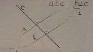 Теорема о двух перпендикулярах к одной прямой