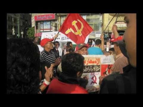 May day Tahiri Square Cairo 2011. Communist party Egypt
