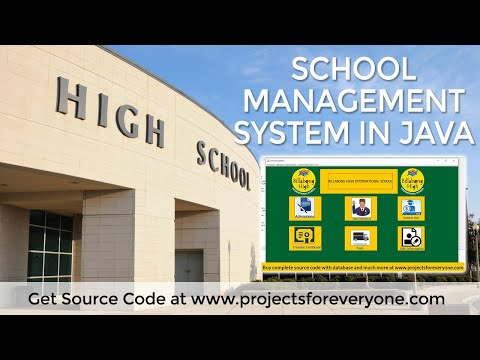 School Management System In Java - Java Projects📥