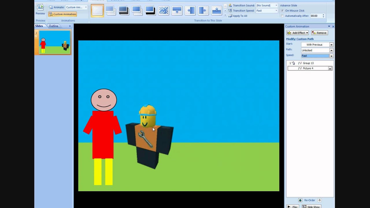How To Make An Animation In Powerpoint *OLD* - YouTube