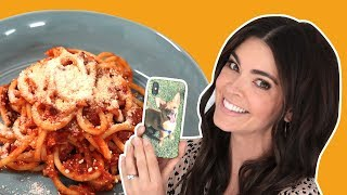 Katie Lee Makes Bucatini All'Amatriciana | What Would Katie Eat