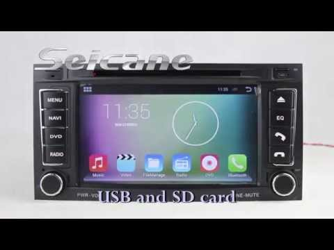 2003-2011 Android 4.4 VW Touareg Navigation System Stereo with USB Port WIFI DVD BT CANBUS Radio RDS