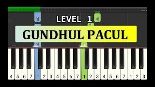 not piano gundul pacul - tutorial level 1 - lagu daerah nusantara - tradisional -  jawa tengah