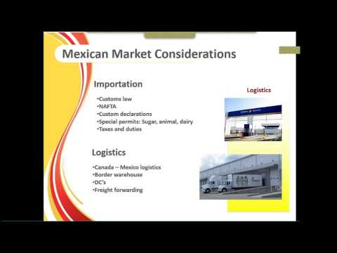 The Importer/Distributor's Perspective – How to Export to Mexico