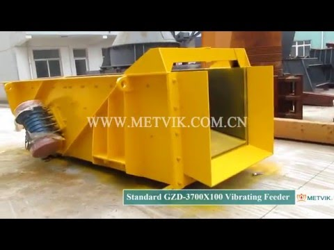 GZD 3700X100 Vibrating Feeder of Shanghai Metvik® Company