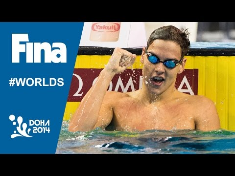 Mitchell James Larkin | Interview (100m Backstroke) | 2014 FINA World Swimming Championships Doha