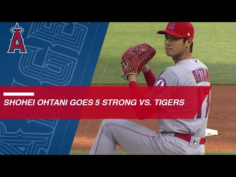 Shohei Ohtani fans 5 in strong outing against the Tigers