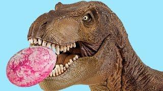 ТИРАННОЗАВР УКРАЛ ЯЙЦА Диметродона, Заурофаганакса и Тираннозавра! ПАСХА у Динозавров.