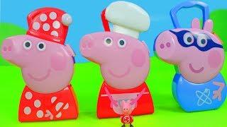 Peppa Wutz Unboxing: Neue Spielsachen mit Schorsch, Mama Pig & Play Doh Zusammenschnitt für Kinder