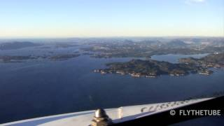 straight in ils approach rwy35 bgo bergen airport hd cockpit view
