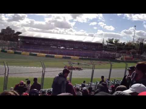 2013 Australian F1 - Alonso installation lap
