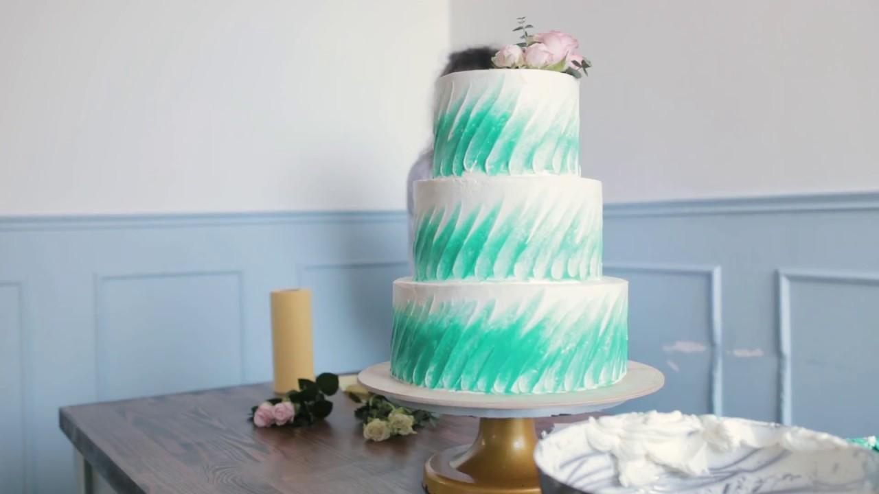Собираем свадебный трехъярусный торт - YouTube