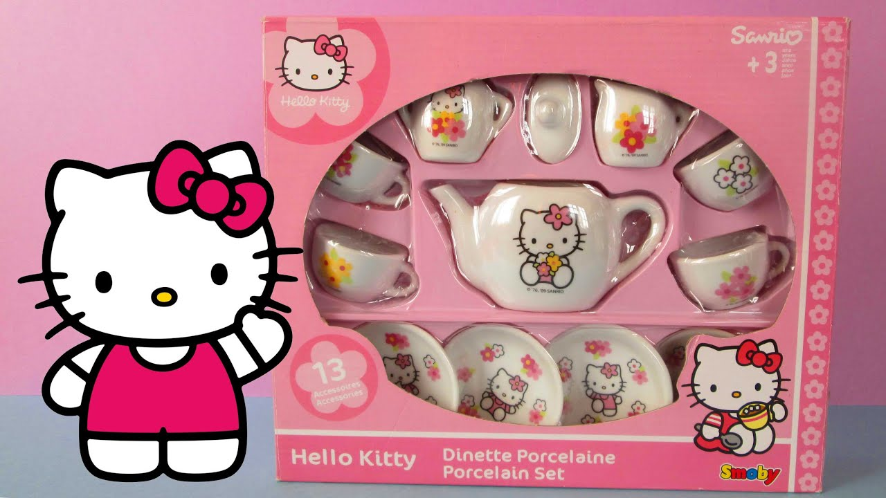 Unboxing Hello Kitty Tea Set Hello Kitty Juego de tazas de T