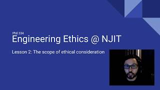 Lesson 2 - The scope of ethical consideration