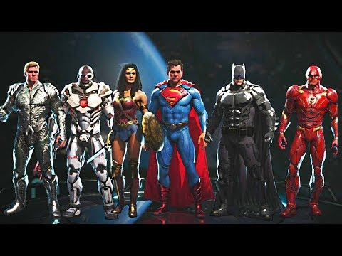 Injustice 2 - All Justice League Movie Gear + Intros, Clash Quotes and Super Moves