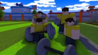 Monster School : CRAZY ROBLOX PRISON ESCAPE + FITNESS CHALLENGE - Minecraft