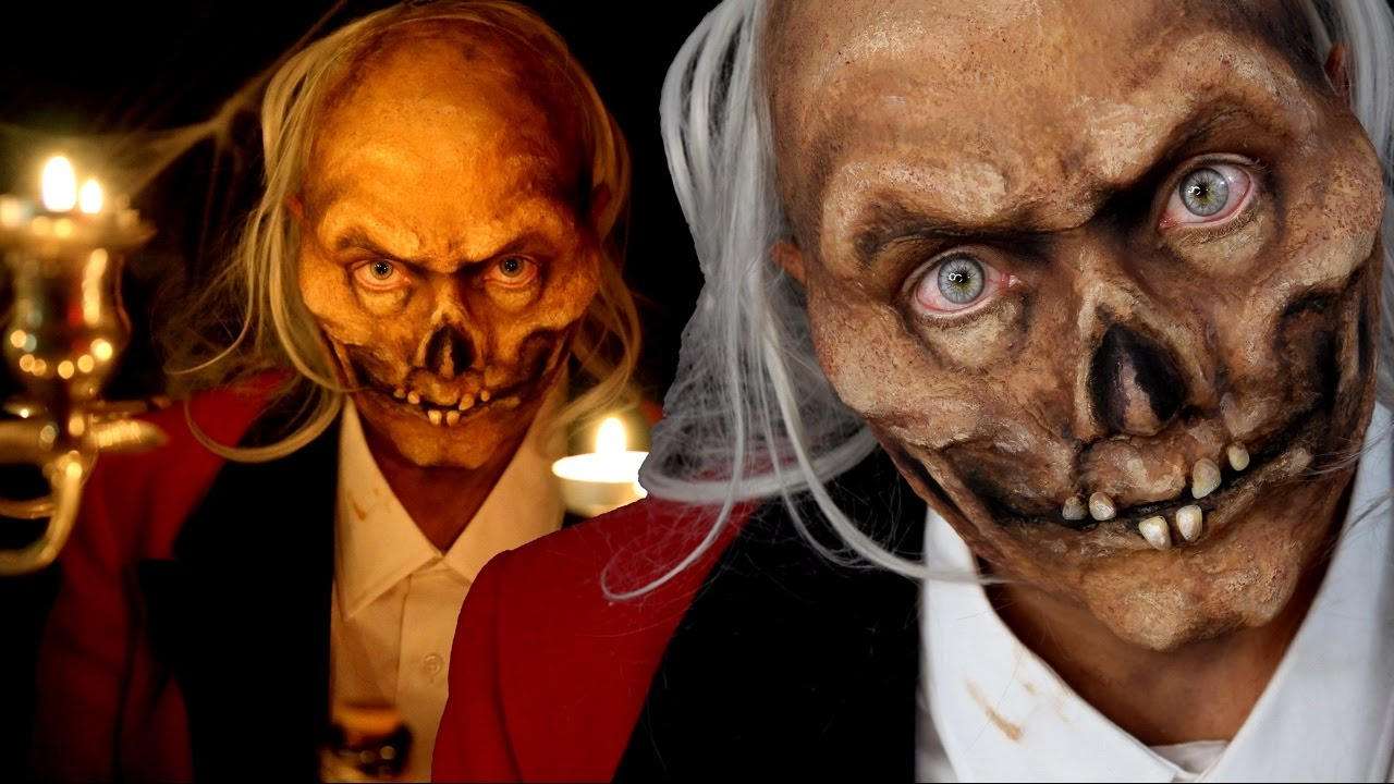 Crypt Keeper Special FX Halloween Makeup Tutorial - YouTube