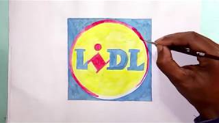How to draw the LiDL logo (logo drawing)