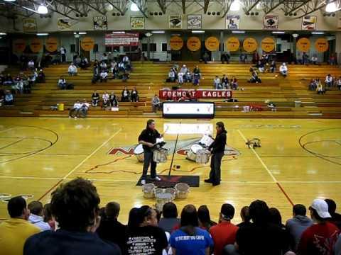 Fremont High School Drum Line 2009-2010 (Girls Eastside Game).AVI
