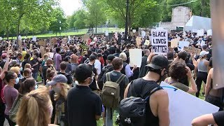 Peaceful protesters on Boston Common call for real change as local leaders discuss reform