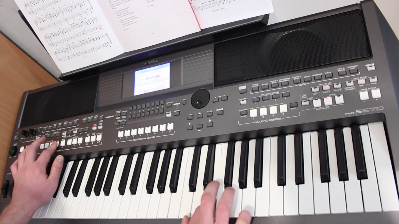magic fly cover on yamaha psr s670 youtube. Black Bedroom Furniture Sets. Home Design Ideas